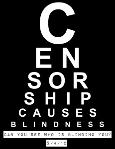 Censorship causes blindness: Can you see who's blinding you?