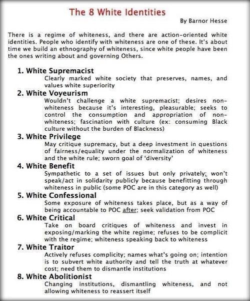 The 8 White Identities by Barnor Hesse